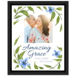 Thumbnail for 8x10 Photo Canvas With Floating Frame with Amazing Grace design 1