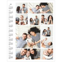 Thumbnail for Collage Poster Calendar, 11x14, Matte Photo Paper with 2019 Custom Color Collage Calendar Poster design 1