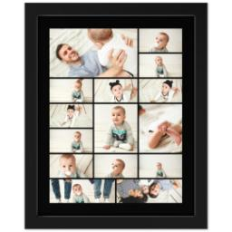 Thumbnail for 11x14 Collage Canvas With Contemporary Frame with Custom Color Collage design 1