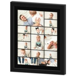 Thumbnail for 11x14 Collage Canvas With Contemporary Frame with Custom Color Collage design 2