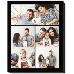 Thumbnail for 11x14 Collage Photo Canvas with Custom Color Collage design 1