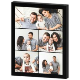 Thumbnail for 11x14 Collage Photo Canvas with Custom Color Collage design 3