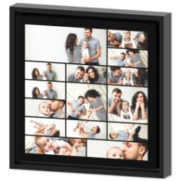 Thumbnail for 12x12 Collage Canvas With Floating Frame with Custom Color Collage design 2