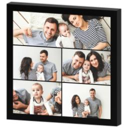 Thumbnail for 12x12 Collage Photo Canvas with Custom Color Collage design 3