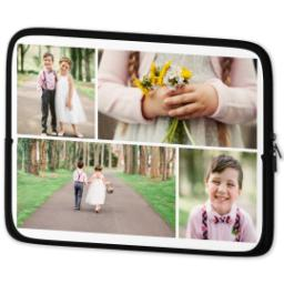 Thumbnail for Photo Collage Laptop Sleeve, Large with Custom Color Collage design 2