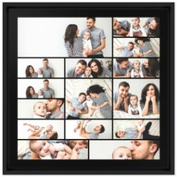 Thumbnail for 16x16 Collage Canvas With Floating Frame with Custom Color Collage design 1