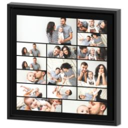 Thumbnail for 16x16 Collage Canvas With Floating Frame with Custom Color Collage design 2