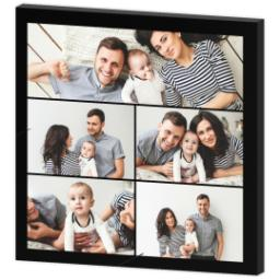 Thumbnail for 16x16 Collage Photo Canvas with Custom Color Collage design 3