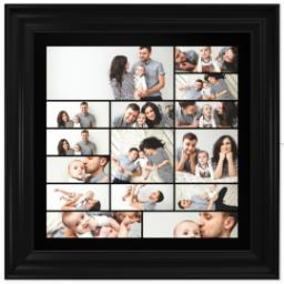 Thumbnail for 16x16 Collage Canvas With Traditional Frame with Custom Color Collage design 1