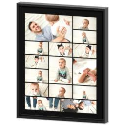 Thumbnail for 16x20 Collage Canvas With Floating Frame with Custom Color Collage design 2