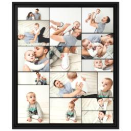 Thumbnail for 20x24 Collage Canvas With Floating Frame with Custom Color Collage design 1