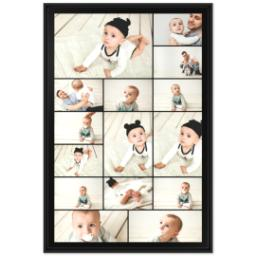 Thumbnail for 24x36 Collage Canvas With Floating Frame with Custom Color Collage design 1