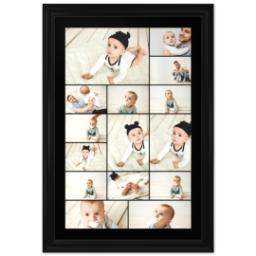 Thumbnail for 24x36 Collage Canvas With Traditional Frame with Custom Color Collage design 1