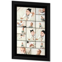Thumbnail for 24x36 Collage Canvas With Traditional Frame with Custom Color Collage design 2