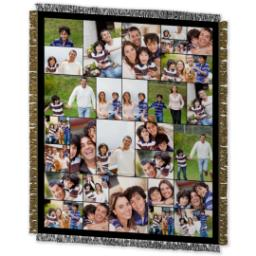 Thumbnail for 50x60 Collage Woven Throw with Custom Color Collage design 2