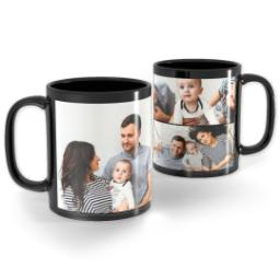 Thumbnail for Black Collage Photo Mug, 11oz with Custom Color Collage design 1
