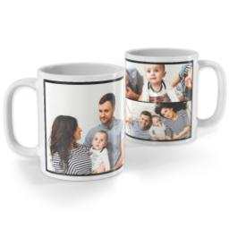 Thumbnail for White Collage Photo Mug, 11oz with Custom Color Collage design 1