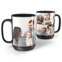 Thumbnail for Black Collage Mug, 15oz with Custom Color Collage design 1