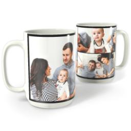 Thumbnail for Photo Collage Mug, 15oz with Custom Color Collage design 1