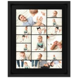 Thumbnail for 8x10 Collage Canvas With Floating Frame with Custom Color Collage design 1
