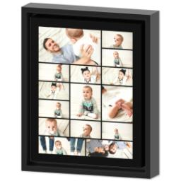 Thumbnail for 8x10 Collage Canvas With Floating Frame with Custom Color Collage design 2