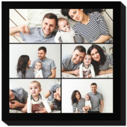 Thumbnail for 8x8 Collage Photo Canvas with Custom Color Collage design 1