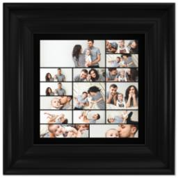 Thumbnail for 8x8 Collage Canvas With Traditional Frame with Custom Color Collage design 1