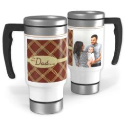 Thumbnail for Stainless Steel Photo Travel Mug, 14oz with Best Dad Diamonds design 1