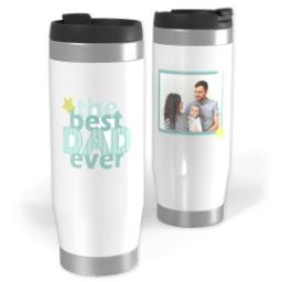 Thumbnail for Premium Tumbler Photo Travel Mug, 14oz with Best Dad Ever design 1