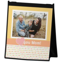 Thumbnail for Reusable Grocery Bag with Heart Mom design 2