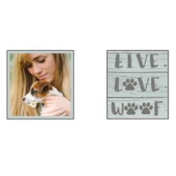 Thumbnail for Premium Grande Photo Mug with Lid, 16oz with Live Love Woof design 2
