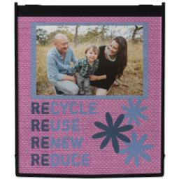 Thumbnail for Reusable Grocery Bag with Recycle Fabric Pink design 1