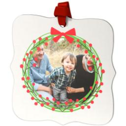 Thumbnail for Fancy Bracket Metal Ornament with Wreath design 2