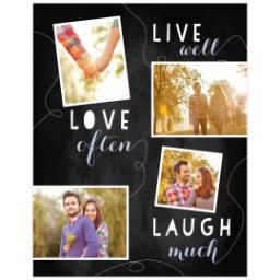 Thumbnail for Poster, 11x14, Matte Photo Paper with Chalk Board Live Love Laugh design 1