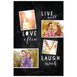 Thumbnail for Poster, 12x18, Matte Photo Paper with Chalk Board Live Love Laugh design 1