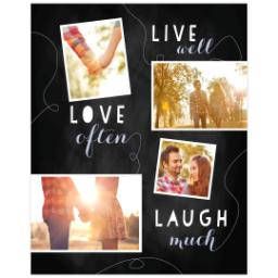 Thumbnail for Poster, 16x20, Matte Photo Paper with Chalk Board Live Love Laugh design 1
