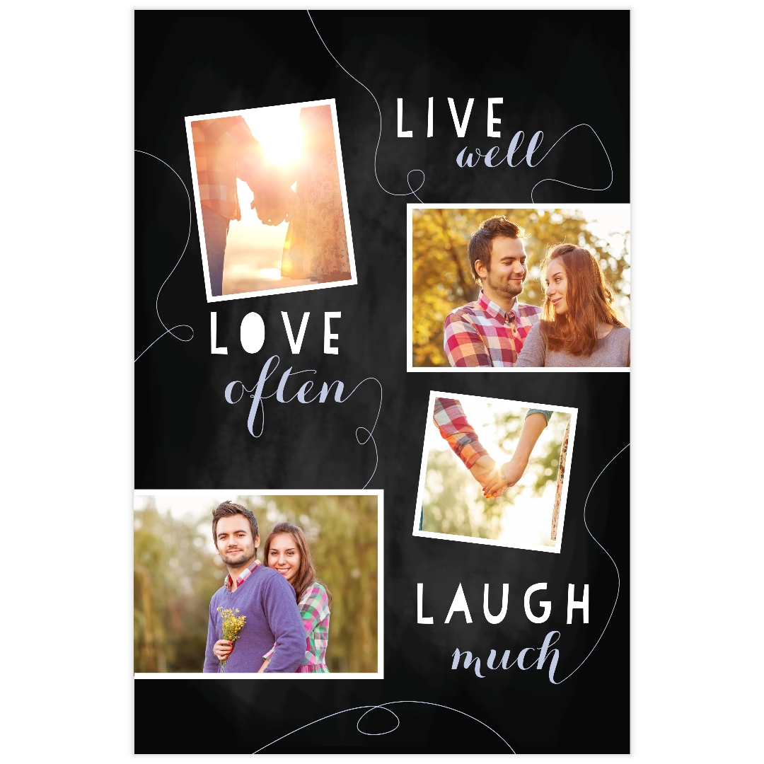 Surprise your lover by sending him/her a customized picture poster. Your pictures will be blown up into a large stunning personalized poster. Just pick four photos of great moments with your other half from your wedding, birthday party, or travel to recall the fondest memories.