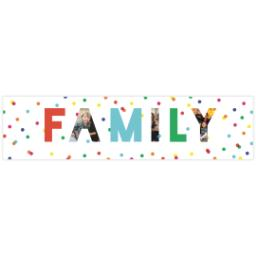 Thumbnail for 2x8 Photo Banner with Family Fun design 1