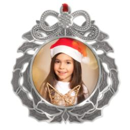Thumbnail for Metal Wreath Ornament with Full Photo design 1