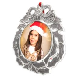 Thumbnail for Metal Wreath Ornament with Full Photo design 2