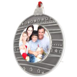 Thumbnail for Metal Circle Photo Ornament with Full Photo design 2