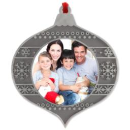 Thumbnail for Metal Teardrop Photo Ornament with Full Photo design 1