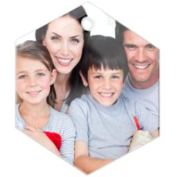 Thumbnail for Glass Hexagon Photo Ornament with Full Photo design 2