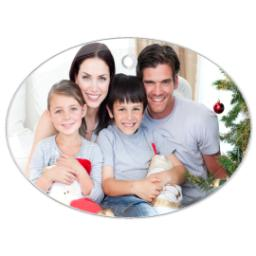 Thumbnail for Glass Oval Photo Ornament with Full Photo design 1