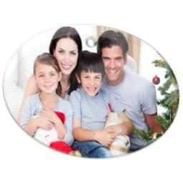 Thumbnail for Glass Oval Photo Ornament with Full Photo design 2
