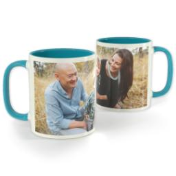 Thumbnail for Light Blue Photo Mug, 11oz with Full Photo design 1