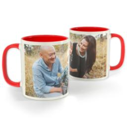 Thumbnail for Red Photo Mug, 11oz with Full Photo design 1