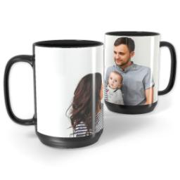 Thumbnail for Black Ceramic Mug, 15oz with Full Photo design 1