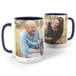 Thumbnail for Blue Photo Mug, 15oz with Full Photo design 1