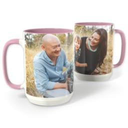 Thumbnail for Pink Photo Mug, 15oz with Full Photo design 1